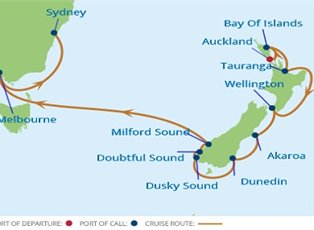 New Zealand Cruise ex Auckland to Sydneyimage